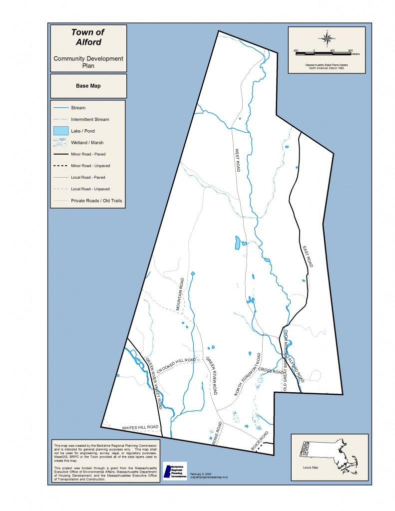 2003 Community Development Plan base map for Town of Alford